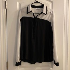 Black and white NY and Co top